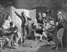 Claude Joseph Rouget de Lisle chantant la Marseillaise  Paul Adolphe Rajon (XIXème siècle), BnF