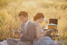 Reading love letters engagement shoot by floataway studios