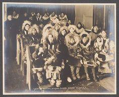 Inupiat group at Nome, Alaska - circa 1904 — with Wayne Drake