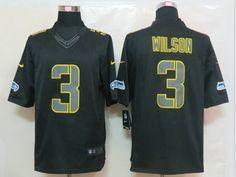 Nike NFL Seattle Seahawks 3 Russell Wilson Impact Limited Black Jersey