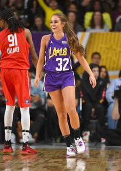 Quavo Rachel DeMita Photos - Quavo and Rachel DeMita play during the 2018 NBA All-Star Game Celebrity Game at Los Angeles Convention Center on February 2018 in Los Angeles, California. - 2018 NBA All-Star Game Celebrity Game Wsu Basketball, Basketball Shorts Girls, Basketball Workouts, Adidas Basketball Shoes, Basketball Pictures, Basketball Uniforms, Basketball Players, Basketball Quotes, Girls Basketball