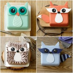You'll love these Animal Cakes Ideas that include fox, raccoon, hedgehog, owl to name a few. You'll love the inspiration and we have a video tutorial too.