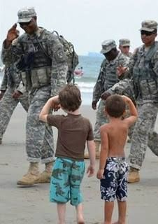 Respect / OBVIOUSLY A MOTHER RASIED HER BOYS RIGHT!  I STOP SERVICEMEN SHOULD I SEE THEM IN THE STREETS AND THANK THEM FOR THEIR SERVICE!  GOD BLESS OUR SERVICEMEN AND SERVICEWOMEN AND SERVICE DOGS!