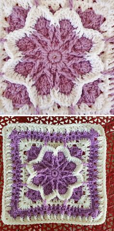 [Free Crochet Pattern] Fun Square With Lots Of Color Potential: Flower Blossom Granny Square