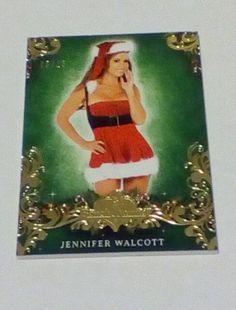 2014 Bench Warmer Holiday #32 Jennifer Walcott Gold Foil #/15 SP Free US Ship