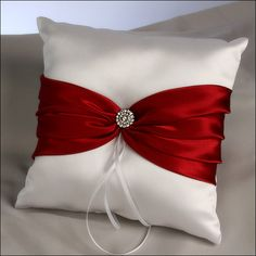 Ring Bearer Pillow - Red Allure
