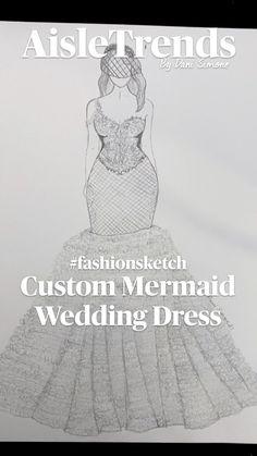 Wedding Dress Illustrations, Wedding Dress Sketches, Couture Wedding Gowns, Wedding Veils, Wedding Dresses, Fashion Design Sketchbook, Fashion Sketches, Curvy Bride, Custom Wedding Dress