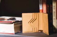vegetable tanned leather wallet, saddle stitch, Hand made leather wallet,-SR