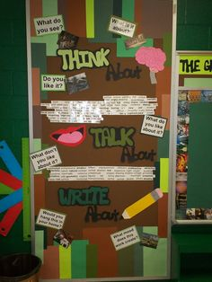 This is where I collect links to interesting art room bulletin boards. Talk 4 Writing, Teaching Writing, Writing Workshop, Writing Resources, Teaching Ideas, Classroom Bulletin Boards, Classroom Decor, Classroom Supplies, Classroom Posters