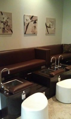 We even have a private pedicure area in our salon- which is perfect for a quiet, relaxing experience.