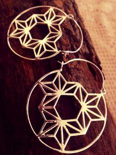 Orecchini India ottone placcati argento