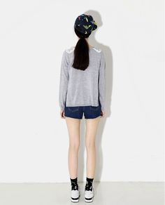 ANGEL WING COLLAR KNIT TOP | Korean Fashionista