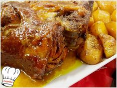 Greek Recipes, Meat Recipes, Real Food Recipes, Cooking Recipes, Yummy Food, The Kitchen Food Network, Greek Dishes, Christmas Cooking, Slow Food