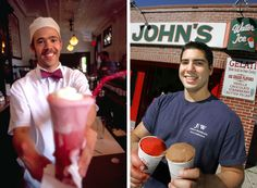 Cold treats for hot Philadelphia (Left photo by D. Swanson for GPTMC, right photo by R. Kennedy for GPTMC)