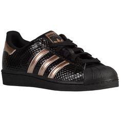 Adidas Originals Superstar Women\u0027s, Black/Copper Metallic/Black