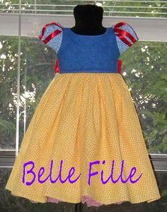 Custom Child size Princess dress with matching doll by adriatate, $75.00
