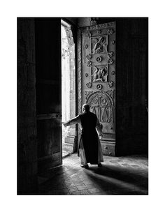 Benedictine monk in the Abbey of Casamari. Italy