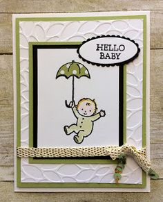 Wine Down Wednesday Hello Baby Card (Kards by Kadie) Baby Boy Cards, Dog Cards, Baby Shower Cards, Kids Cards, Baby Birthday, Birthday Cards, Wine Down, New Baby Boys, Scrapbooking Layouts