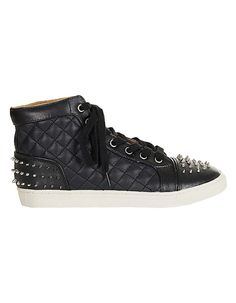TOPSHOP Absolute Stud Quilted Hi Tops