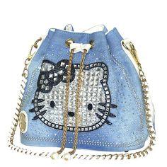 34.68$  Buy now - https://alitems.com/g/1e8d114494b01f4c715516525dc3e8/?i=5&ulp=https%3A%2F%2Fwww.aliexpress.com%2Fitem%2FNew-High-Archives-Bucket-Cowboy-Strap-Drill-Package-hello-Kitty-Cat-Chain-Korea-Woman-Package-Pearl%2F32740275679.html - Fashion Women Denim Bag Bucket Crossbody Handbags hello kitty top-handle bags Chains Shoulder Bag Diamonds Women Messenger Bags