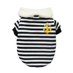 Stylish Nautical Dog Sweatshirt for Dog Pullover Cozy Soft Dog Clothes Free Shipping,Black,XL « Pet Lovers Ads