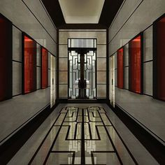 Entrance hall of the Milan flagship store Villa Meissen designed by Gio Ponti