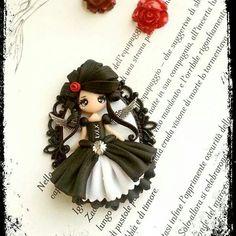 Morgana goth doll by la petite deco