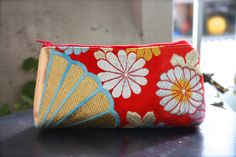 Obi / Kimono / Pouch / GD830 Gorgeous Chrysanthemums Embroidery Antique Obi Pouch by RummyHandmade on Etsy