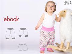 Schnittmuster einfache Babyhose Modell Aria Ebook  von pattern4kids - Schnittmuster für Baby- und Kinderkleider als ebook download oder Papierschnitt mit Nähanleitung auf DaWanda.com