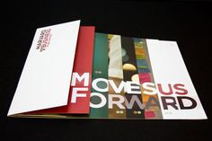 Harvard Business Publishing Corporate Brochure    Interesting layering of pages