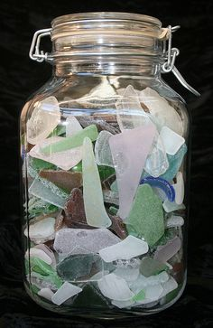 Seaglass!! I've collected a lot over the years. I should put it all in a jar!