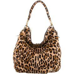 Leopard Print Faux Fur Handbag