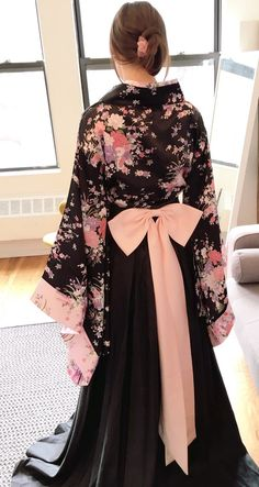 d02332c5de9ce9 Kimono Inspired Sakura Floral Wedding Gown by WeekendWeddingDress Floral  Wedding Gown