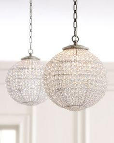 Horchow Crystal Ball Pendant Antique-inspired pendant offers updated  restoration-style lighting for the
