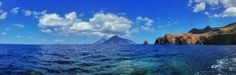 #lipari #salina #filicudi #alicudi #blue #sea #aeolianislands #davideguglielmino Half Dome, Islands, Mountains, Nature, Travel, Naturaleza, Viajes, Destinations, Traveling