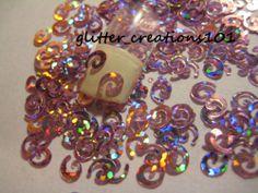 Nail Art Glitter Shapes(1 Tsp HOLO PINK SWIRLS Glitter Spangles FOR ACRYLIC GEL