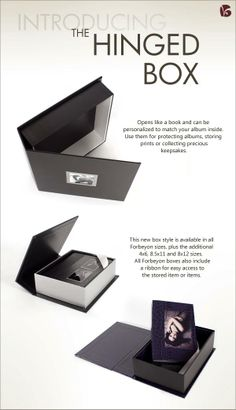 Example of hinged box for album storage (also a custom design)