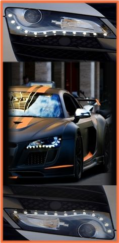Cool shot of an Audi R8/ I could do this or something similar