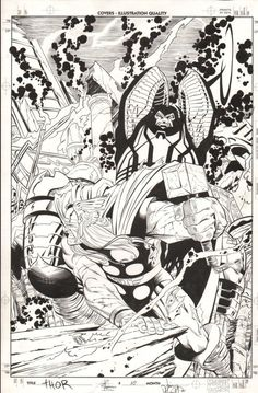 The Mighty Thor #10 cover by Joe Quesada & Jimmy Palmiotti.