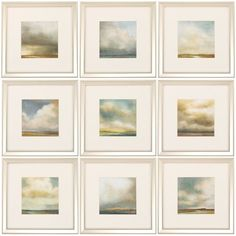 Found it at Joss & Main - Atmosphere 9 Piece Framed Painting Print Set