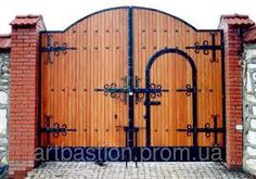 Iron Gate Design, House Gate Design, Front Door Design, Front Gates, Entrance Gates, Door Gate, Fence Gate, Wooden Gates, Wooden Doors