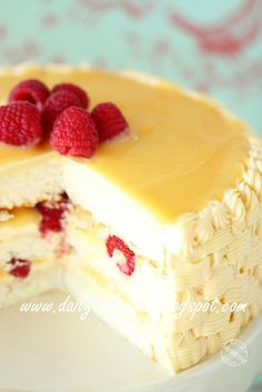 dailydelicious: Lemon-Raspberry Cake with Lemon Buttercream Recipe: Refreshing cake to brighten up your day.
