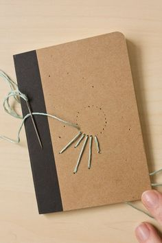 DIY Embroidered Notebook idea for Student Journalling. (via Make and Fable)