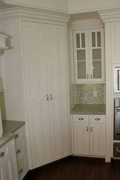 Image result for turning a corner kitchen pantry into a walk in cupboard