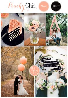 Rose Gold Blush Black Wedding Palette Weddings And