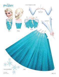 Paper Doll de Elsa -Frozen- | -Tu sitio de Frozen -