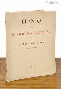 """F. García Lorca. Poesía. """"Llanto por Ignacio Sánchez Mejías""""- 1ª Edición"""