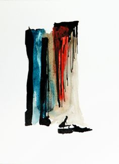 """""""Composition"""" (2010) - #painting by Petros Devolis - Ink and diluted #acrylic colors on aquarelle paper - 18,8 x 23,9 cm (7.4 x 9.05 in)  www.twitter.com/devolisarts www.facebook.com/devolisarts www.about.me/devolisarts"""