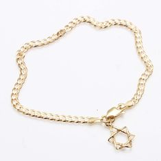 14k Small Polished Number 2 Charm Length 18 Width 7