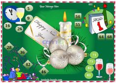 New Year 2  in 9x4 format :Templates Tickets | Tambola Housie